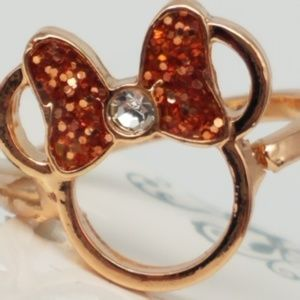 Disney  Minnie Rose Gold Ring SZ 7 NWT